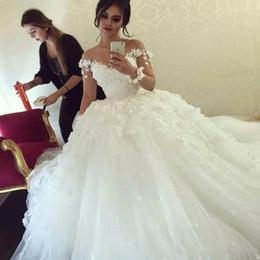 Argentina Vestidos de novia largos blancos con lentejuelas brillantes 2020 Vestidos de novia con espalda baja y profunda sexy Vestidos baratos para ocasiones especiales para bodas cheap long nude sparkle dresses Suministro