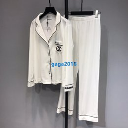 Pipa blusa online-de gama alta pijamas mujeres niñas de terciopelo carta fijar tuberías de rayas camisa de la blusa de manga larga tops trotar legging pijama traje pantalón de moda