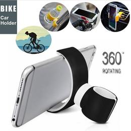 Araba braketi 360 Derece Evrensel Hava Firar Dağı Bisiklet Araba Cep Telefonu Tutucu IPhone 6 için Standları Artı / 7/8 / X 3.5-6.0 inç Telefon nereden büyük uyum tedarikçiler