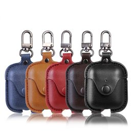 black box wine wholesale Coupons - For AirPods Case PU Leather Portable Protective Cases Cover Storage Bag With Keychain for Apple Airpods 2 & 1