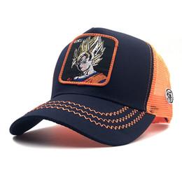 Nova Marca Goku Vegeta Dragon Ball Z Snapback Cap Algodão de alta qualidade Verão Boné de Beisebol Para Homens Mulheres Pai net chapéu de Malha Osso de Fornecedores de redes boné de beisebol