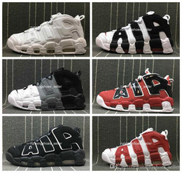 newest e56cf e95a1 2019 chaussures Air Mehr Uptempo Damen Herren Basketballschuhe, Hohe  Qualität Tri-Color Scottie Pippen PE Dreifach Weiß Sportlich Sport  Turnschuhe