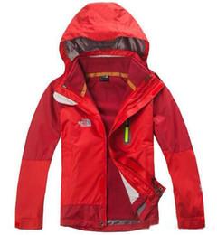 Горячие продажи бренда NF детский комбинезон водонепроницаемый теплый комбинезон дополнительный толстый флис три-в-одном съемный куртка с капюшоном XS-XXL от Поставщики детское пальто для девочки 12 месяцев
