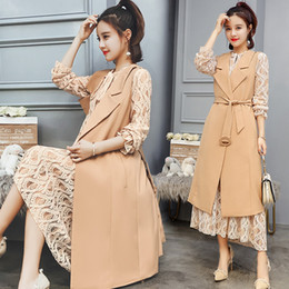 vestuário de vestimenta Desconto Mulheres Outono Primavera Terno Colete Colete Senhora Escritório Desgaste Longo Colete Mulheres Casaco Sem Mangas Casuais Colete Jaqueta Plus Size