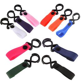 Cintre en Ligne-10 couleurs Poussette bébé Crochet poussette Hanger Hanging Magic Tape + Vêtements résine Sac Crochets bébé Accessoires poussette