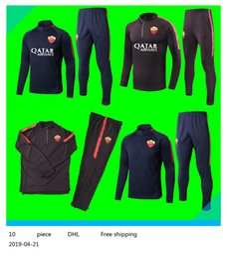 2019 roma azul 2018 19 Roma Terno de Treinamento de Futebol Jersey Iturbe Totti De Rossi Fatos de Treino Azul de Manga Comprida Camisas De Futebol 18 19 Uniforme De Roma roma azul barato