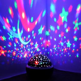 luz conduzida a pilhas da estrela Desconto Sonho Rotating Estrela Lâmpada de Projeção Night Light Romantic Rotate LED da bateria USB Operado lâmpada noite para dormir bebê crianças