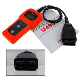 Lectores de códigos de camiones online-U480 Obd2 Obdii Obd-ii Memo Scan Memoscan Lcd Car Auto Truck Escáner de diagnóstico Lector de códigos de fallas Escáneres Herramienta