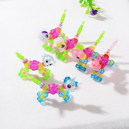 boring toys Coupons - New Magical pet animal Kid bracelets Cute sheep Bear Rabbit Dog Cat Unicorn charm Toy bracelet For Boy Girls children Jewelry Gift