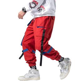 Nuevos pantalones de combate online-2019 Nuevas llegadas Pantalones de chándal de estilo suelto para hombres Pantalones casuales de calle Pantalones de carga de combate de trabajo Envío directo