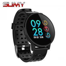 2019 tiempo de espera del teléfono Slimy T3 Smart Watch Hombres IP67 Rastreador de ejercicios a prueba de agua de larga duración Standby Smartwatch Activity Tracker para Android IOS Phone tiempo de espera del teléfono baratos