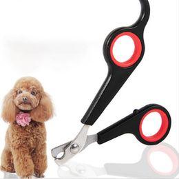 Forbici per la cura del cane online-Pet Dog Grooming Cat Care Tagliaunghie Forbici Grooming Trimmer 12.2 * 5.5cm Colore nero Forniture per animali domestici Hot DHL