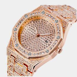 Хип-хоп побрякушки алмазные часы для мужчин золото нержавеющая сталь группа Бизнес кварцевые мужские часы Ледяной человек Relogio Masculino от