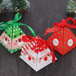 Nette kleine süßigkeiten-boxen online-Kreative Weihnachten Süßigkeiten Verpackung Box Weihnachtsgeschenk-Kasten Backen Kleine Verpackungskartongröße 8 * 8 * 9cm nette Süßigkeitskästen