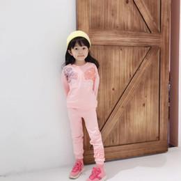 Женские спортивные костюмы леопарда онлайн-новый малыш малыш девочка устанавливает весна осень одежда розовый с длинным рукавом Леопард длинные брюки наряд спортивный костюм топы