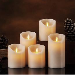 Caliente NUEVO sin llama marfil LED luces de velas perfumadas pilar de control remoto de la vela de velas fiesta de cumpleaños tabla de la boda casera LED luz de las velas desde fabricantes