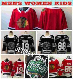 6eee87851 2019 Winter Classic Mens Chicago Blackhawks 88 Patrick Kane 19 Jonathan  Toews Hockey Jerseys Home Red Stitched Mens Kids Womens Shirts