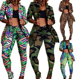 casacos de inverno sexy para mulheres Desconto Mulheres mais sexy club 2 peças conjunto de calças compridas Leopard Cardigan Sweatsuit outwear leggings jaqueta casaco roupa roupas de inverno queda