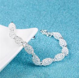 Abençoe pulseira on-line-925 contas de sorte pulseira de prata mão polida bênção pulseira personalidade moda jóias de luxo mas sensível ajustável boa sorte cadeia