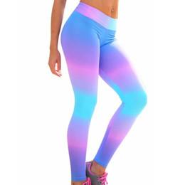 Frauen Mittleren Taille Regenbogen Dünne Hosen Fitness Leggings Kleidung Stretch Fitness Übung Hosen Hosen pantalon mujer