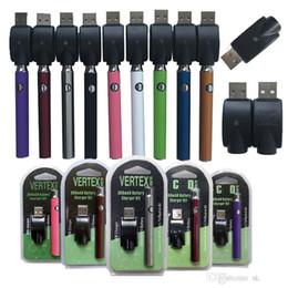 kit de cigarrillo electronico vision Rebajas CE3 Vertex voltaje variable de la batería 350mAh cigarrillos e Vape pluma de la batería Kit precalentamiento 510 Tema de la batería para el aceite de Vape cartuchos atomizador