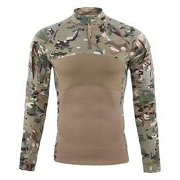 Shanghai Geschichte Männer Taktische Ausrüstung Military Airsoft Special Ops Combat Shirt Camouflage Mischung Baumwolle Langarm-shirt von Fabrikanten