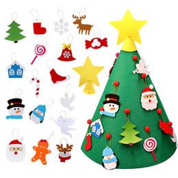 kinder weihnachten ornamente Rabatt 3D DIY Filz Kleinkind Weihnachtsbaum Neujahr Kinder Geschenke Spielzeug Künstliche Baum Weihnachten Home Decoration Hanging Ornaments