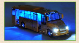Большой звук автомобиля онлайн-1: 32 школьный автобус звук и легкий Backweight сплава детская игрушка модель автомобиля прямая трансляция звук открытой двери и свет большой размер