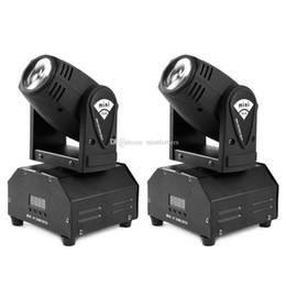 luz de cabeça em movimento para discoteca Desconto 2 PCS 10 w Mini LEVOU Moving Head Luz RGBW Luz de Palco DMX512 Feixe de Luz para DJ Patry KTV Boate Vidas