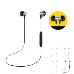 Bt phone bluetooth онлайн-BT-23 Bluetooth наушники беспроводной V4.1 магнитные стерео наушники IPX4 водонепроницаемый шумоподавления с HD Mic Спорт для телефона