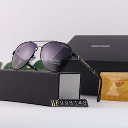 Occhiali da sole di lusso A998148 Occhiali da sole di marca Moda Occhiali da sole polarizzati per le donne da uomo Vetro UV400 7 Style con scatola da