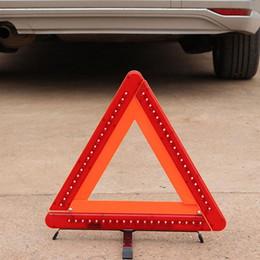 luci rosse ems Sconti Car Auto Safety emergenza riflettente LED triangolo di avvertimento auto treppiede piegato stop Hazard Red Sign avvertimento striscia riflettente