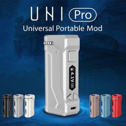 cigarette micro Promo Codes - 100% Original Yocan UNI Pro Vape Box Mod Kit 650mA Preheat Battery E Cigarette Vape Pen Fit All Vape Cartridge with Micro USB Charger