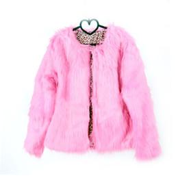cappotto di pelliccia di caramella Sconti Moda Donna Shaggy Faux Fur Coat Spessa Caldo O Collo Donna Rosa Completamente Giacca Colore Caramella Fur Coats Giacche Streetwear bontjas