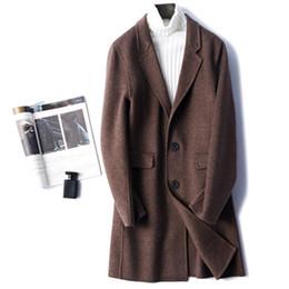 männer kaschmir langen graben Rabatt neue hochwertige doppelseitige Mantel Herren langen Abschnitt Mode lässig Wollmantel Slim Cashmere Wollgraben XXXL