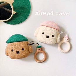 Silicon Cute Cartoon Little Dog Airpods Cases for Airpods Pro Apple Bluetooth Wireless Headset Cover 1 2 Generation Soft Shell with Ring
