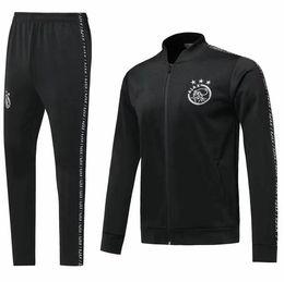 casaco fita Desconto 2019 jaqueta de agasalho Ajax Ribbon 2019 2020 Ajax treino de futebol terno 19 20 VAN DE BEEK TADIC ZIYECH futebol voetbal jas trainingspak