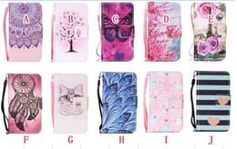 iphone 5c hüllen katzen Rabatt Blumen-Mappen-Leder-Kasten für Iphone 11 PRO X XS MAX XR 8 7 Plus-6S SE 5S 5C Ipod Touch 5 6 Schmetterlings-Standplatz-Bügel-Katzen-Karte Haut-Abdeckung 50pcs