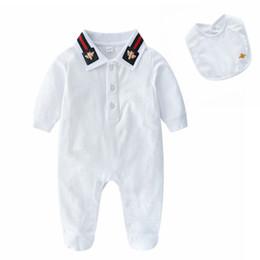 Vestiti da caduta del neonato online-Neonato Pagliaccetto Vestiti per neonati Tute per bambini Autunno Inverno Abbigliamento Bebe Abiti Abiti per ragazzi Neonate Pagliaccetti Pigiami per bambini