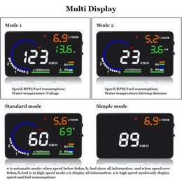 2019 a8 hud 1 Stk 5,5 Zoll A8 HUD Head Up Display-MPH RPM Speeding Warnung Windschutzscheibe Projector Alarm System NJ88 Auto rabatt a8 hud