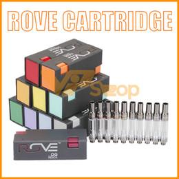 billige öltanks Rabatt Rove Vape Cartridge Pyrex-Glastank Stiftwagen 0,8 ml 1,0 ml Keramikspule Zerstäuber Dickölpatronen Für 510 Vorheizen Batterie 12 Geschmacksrichtungen