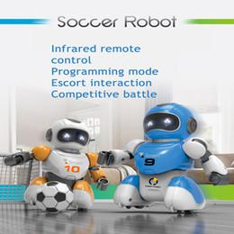 1 Conjunto Inteligente de Carregamento USB Controle Remoto Robô De Futebol Brinquedo Cantando E Dança Simulação RC Inteligente Robôs De Futebol Brinquedos de Fornecedores de raposa eletrônica