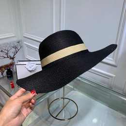 29fbc893 Summer women Wide Brim Hats fashion casual hats designer letter wool hat  outdoor leisure warm ball caps with box est