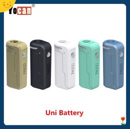 Argentina Yocan UNI Box Mod con batería de voltaje ajustable de 650 mah para atomizador de vaporizador de 510 hilos magnéticos 100% original Suministro