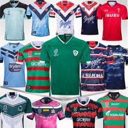 Leinster Jersey Rabbitohs Galos Irlanda SYDNEY GALOS ANZAC JERSEY Indígenas Jerseys de rugby manga curta Nova Zelândia 2019 2020 de