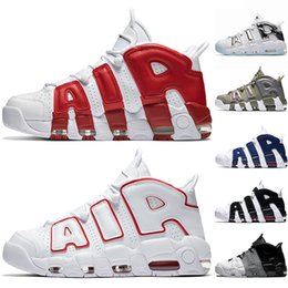 Nike Air More Uptempo Mens Scarpe da Basket Varsity Rosso Nero Bianco Chrome Blu UNC Uomo Designer Trainer Sport Sneakers A Buon Mercato Taglia 36 47