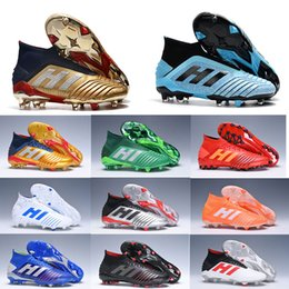 golden bowl Promo Codes - Predator 19+ 19.1 FG x Pogba AG PP Paul Pogba 25th Anniversary Golden 2019 Mens Football Boots 19+x Cleats Shoes