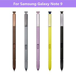 Samsung galaxy note 9 caneta on-line-Capacitiva Stylus Pen S para Samsung Galaxy Note N9600 9 multifuncional Touch Screen S Pens Não Bluetooth 5 cores