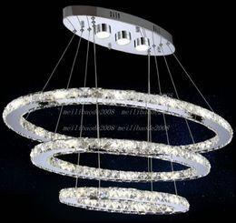 Modern luminaire suspendu LED Crystal Chandelier Lights For Diving Room Cristal Lustre Pendente Lighting Pendant Hanging Fixture