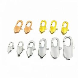 2019 ganci di bottoni antichi Catenacci per aragosta rettangolari per gioielli fatti a mano fermagli in acciaio inossidabile 9-18mm per collana braccialetto accessori fai da te all'ingrosso